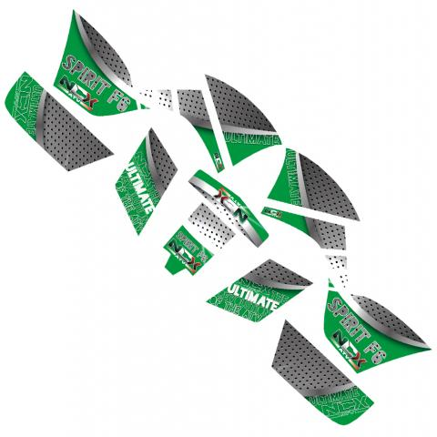 KIT GRAFICHE NCX SPIRIT F6 VERDE IN PVC 55 micron