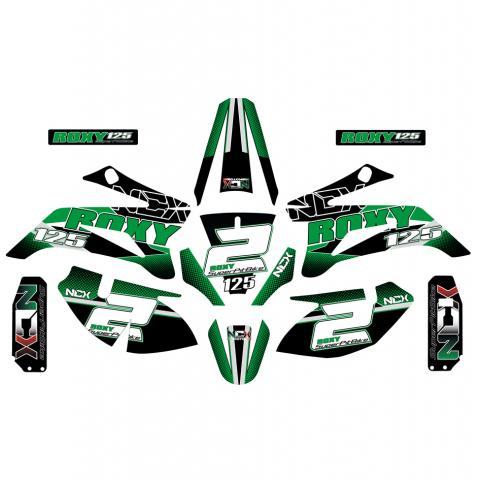 KIT GRAFICHE NCX ROXY VERDE IN PVC 55 micron