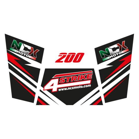 KIT GRAFICHE NCX BUGGY 4STRIKE 200 NERO IN PVC 55 micron