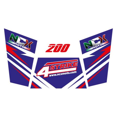 KIT GRAFICHE NCX BUGGY 4STRIKE 200 BLU IN PVC 55 micron