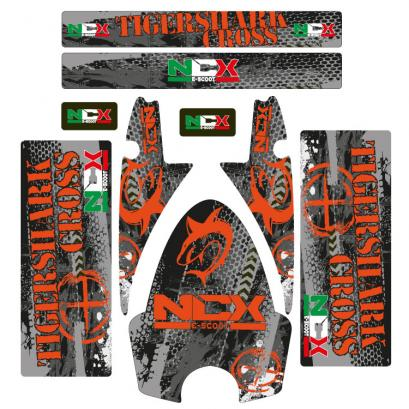 KIT GRAFICHE NCX TIGERSHARK CROSS ARANCIO IN PVC 55 micron